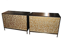 Art door cabinet, Gold Graffiti , art by Murray Duncan