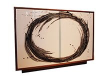 Art door cabinet, Circular/Splash, by Murray Duncan, custom size/finishes available