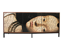 Art door cabinet - Portrait of a Lady, art by Murray Duncan, custom sizing/finishes available