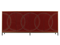 Art door cabinet - Red Sion, art by Murray Duncan, custom sizing/finishes available