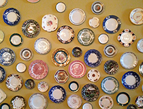 Vintage Plate Wall Installation by Hardware Interiors Studio - Location, The Good Son,Toronto