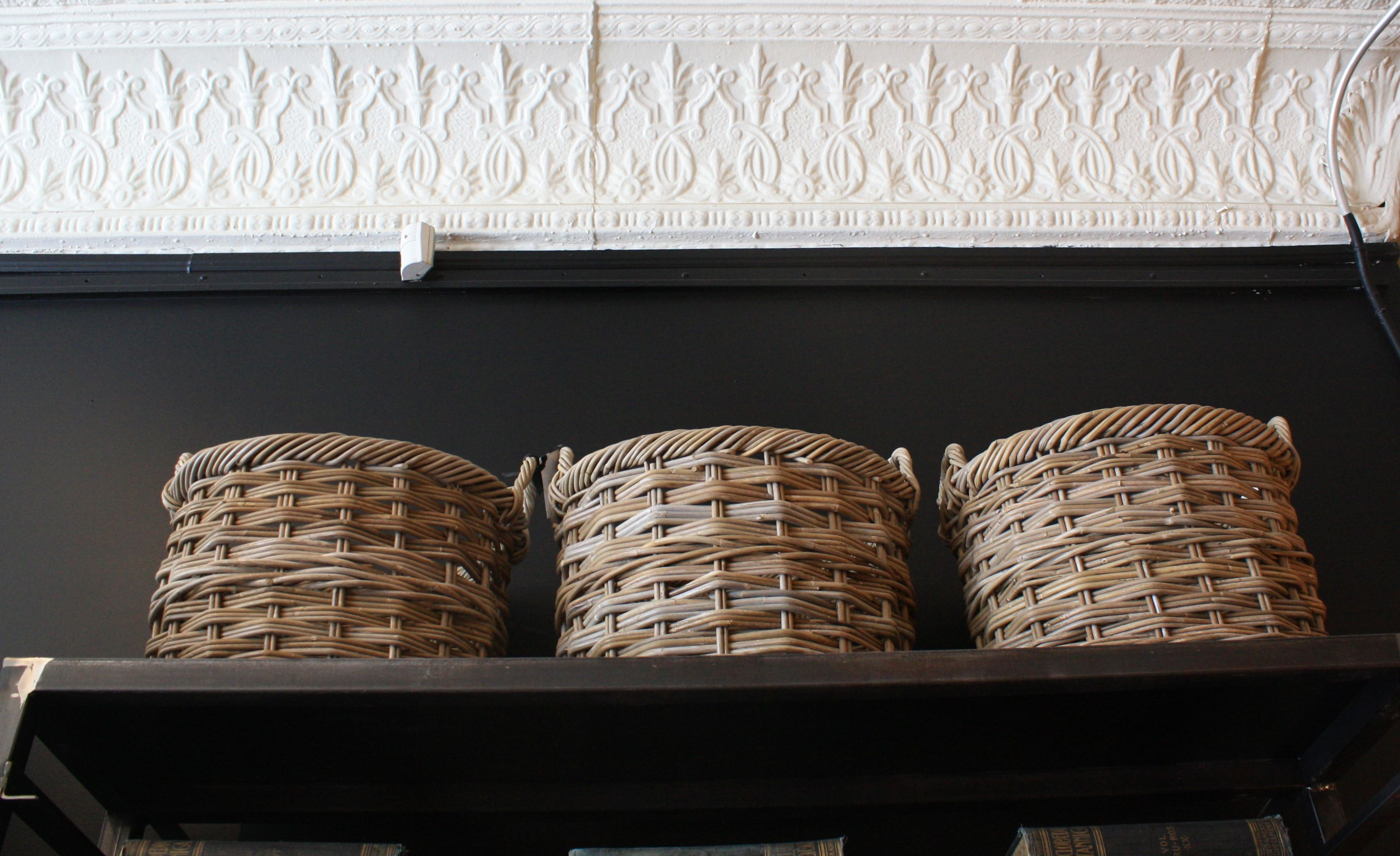 hardware wicker basket