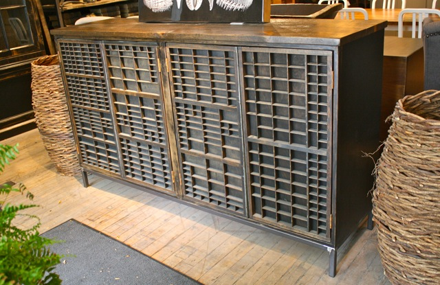 Vintage Printing tray cabinets